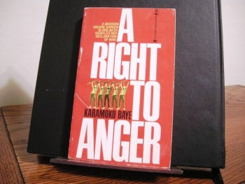 Image for A Right to Anger