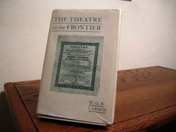 Image for The Theatre on the Frontier: The Early Years of the St. Louis Stage