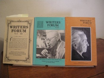 Image for Writers' Forum Vol. 9 1983, Vol. 14 Fall 1988, Vol. 17 Fall 1991 (Three Issues)
