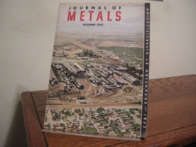 Image for Journal of Metals Vol. 5, No. 10 (October, 1953)