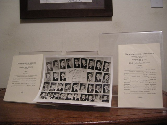 Image for Baccalaureate Services and Commencement Exercises with Class Photo---Ordway High School Class of 1937 [Colorado]